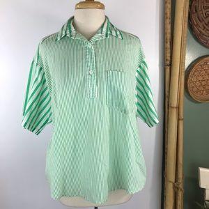 Vintage Apostrophe Pullover Top Sz M Oversize